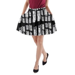 Numbers Cards 7898 A Line Pocket Skirt