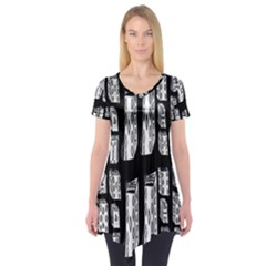 Numbers Cards 7898 Short Sleeve Tunic