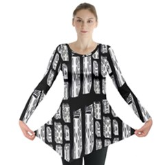 Numbers Cards 7898 Long Sleeve Tunic