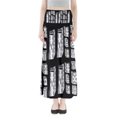 Numbers Cards 7898 Full Length Maxi Skirt