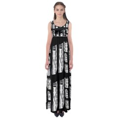 Numbers Cards 7898 Empire Waist Maxi Dress