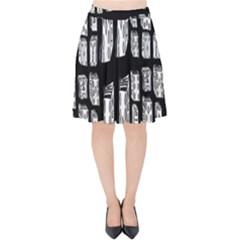 Numbers Cards 7898 Velvet High Waist Skirt