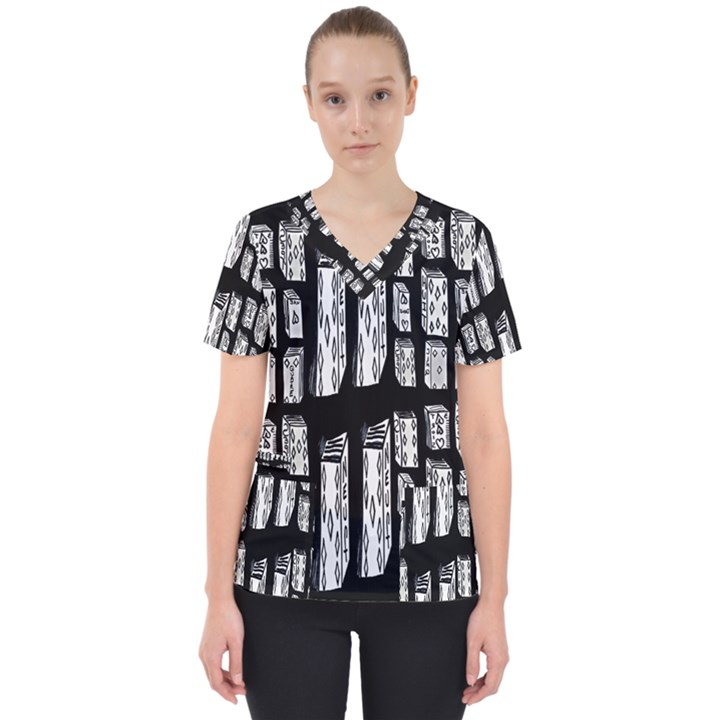 Numbers Cards 7898 Scrub Top