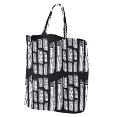 Numbers Cards 7898 Giant Grocery Zipper Tote