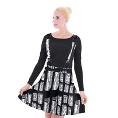 Numbers Cards 7898 Suspender Skater Skirt
