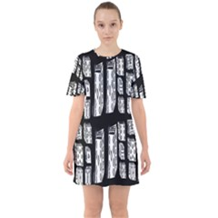 Numbers Cards 7898 Sixties Short Sleeve Mini Dress