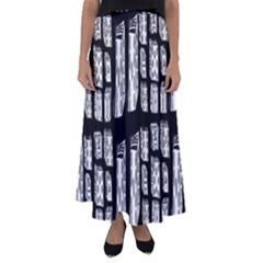 Numbers Cards 7898 Flared Maxi Skirt