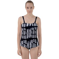 Numbers Cards 7898 Twist Front Tankini Set