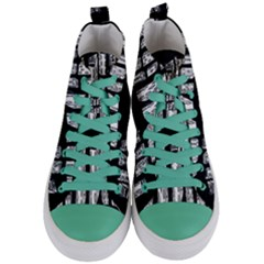 Numbers Cards 7898 Women s Mid Top Canvas Sneakers