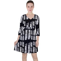 Numbers Cards 7898 Ruffle Dress