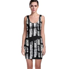 Numbers Cards 7898 Bodycon Dress