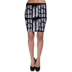 Numbers Cards 7898 Bodycon Skirt
