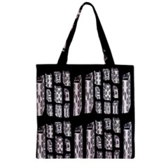 Numbers Cards 7898 Zipper Grocery Tote Bag