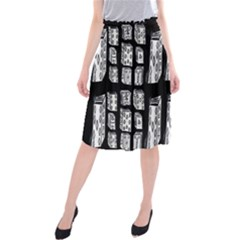 Numbers Cards 7898 Midi Beach Skirt