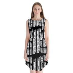 Numbers Cards 7898 Sleeveless Chiffon Dress