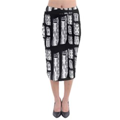 Numbers Cards 7898 Midi Pencil Skirt