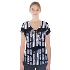 Numbers Cards 7898 Short Sleeve Front Detail Top