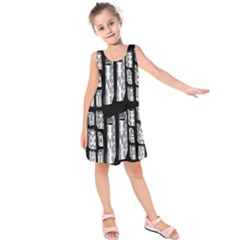 Numbers Cards 7898 Kids  Sleeveless Dress