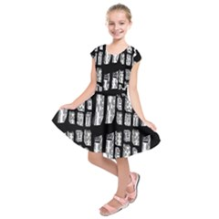 Numbers Cards 7898 Kids  Short Sleeve Dress