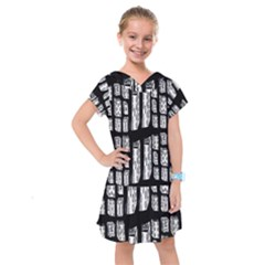 Numbers Cards 7898 Kids  Drop Waist Dress