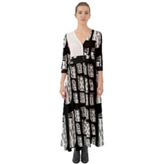 Numbers Cards 7898 Button Up Boho Maxi Dress