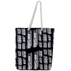 Numbers Cards 7898 Full Print Rope Handle Tote (large)