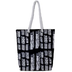 Numbers Cards 7898 Full Print Rope Handle Tote (small)