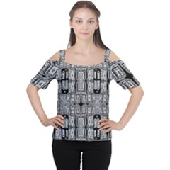 Numbers Cards 7898 Cutout Shoulder Tee