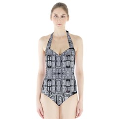 Numbers Cards 7898 Halter Swimsuit
