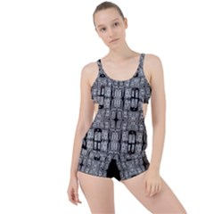 Numbers Cards 7898 Boyleg Tankini Set