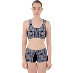 Numbers Cards 7898 Work It Out Sports Bra Set