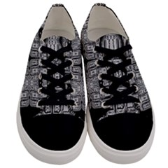Numbers Cards 7898 Men s Low Top Canvas Sneakers