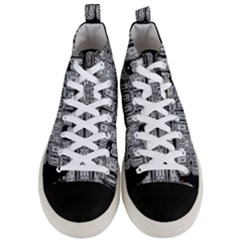 Numbers Cards 7898 Men s Mid Top Canvas Sneakers