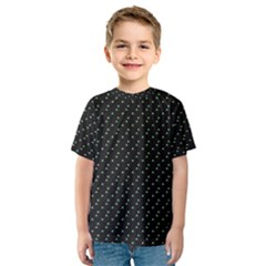Pink Flowers On Black Kids  Sport Mesh Tee
