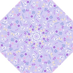 Violet,lavender,cute,floral,pink,purple,pattern,girly,modern,trendy Golf Umbrellas