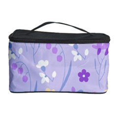 Violet,lavender,cute,floral,pink,purple,pattern,girly,modern,trendy Cosmetic Storage Case