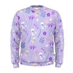 Violet,lavender,cute,floral,pink,purple,pattern,girly,modern,trendy Men s Sweatshirt