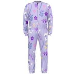 Violet,lavender,cute,floral,pink,purple,pattern,girly,modern,trendy Onepiece Jumpsuit (men)