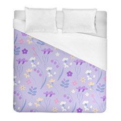 Violet,lavender,cute,floral,pink,purple,pattern,girly,modern,trendy Duvet Cover (full/ Double Size)