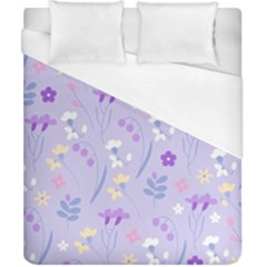 Violet,lavender,cute,floral,pink,purple,pattern,girly,modern,trendy Duvet Cover (california King Size)