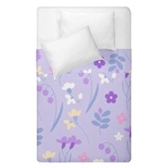 Violet,lavender,cute,floral,pink,purple,pattern,girly,modern,trendy Duvet Cover Double Side (single Size)
