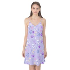 Violet,lavender,cute,floral,pink,purple,pattern,girly,modern,trendy Camis Nightgown