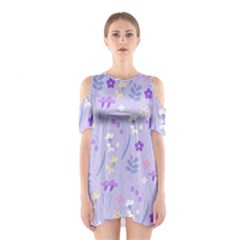 Violet,lavender,cute,floral,pink,purple,pattern,girly,modern,trendy Shoulder Cutout One Piece