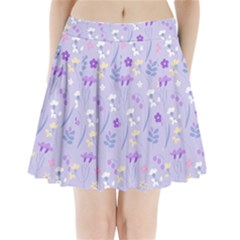 Violet,lavender,cute,floral,pink,purple,pattern,girly,modern,trendy Pleated Mini Skirt