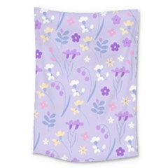 Violet,lavender,cute,floral,pink,purple,pattern,girly,modern,trendy Large Tapestry