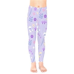 Violet,lavender,cute,floral,pink,purple,pattern,girly,modern,trendy Kids  Legging