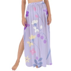 Violet,lavender,cute,floral,pink,purple,pattern,girly,modern,trendy Maxi Chiffon Tie Up Sarong
