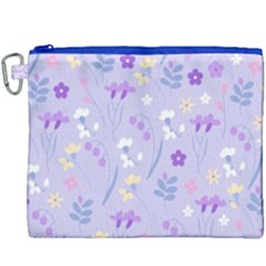 Violet,lavender,cute,floral,pink,purple,pattern,girly,modern,trendy Canvas Cosmetic Bag (xxxl)