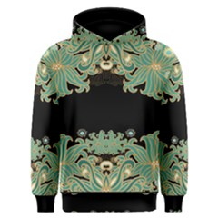 Black,green,gold,art Nouveau,floral,pattern Men s Overhead Hoodie