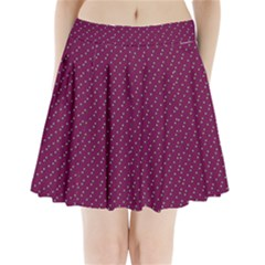 Pink Flowers Magenta Pleated Mini Skirt